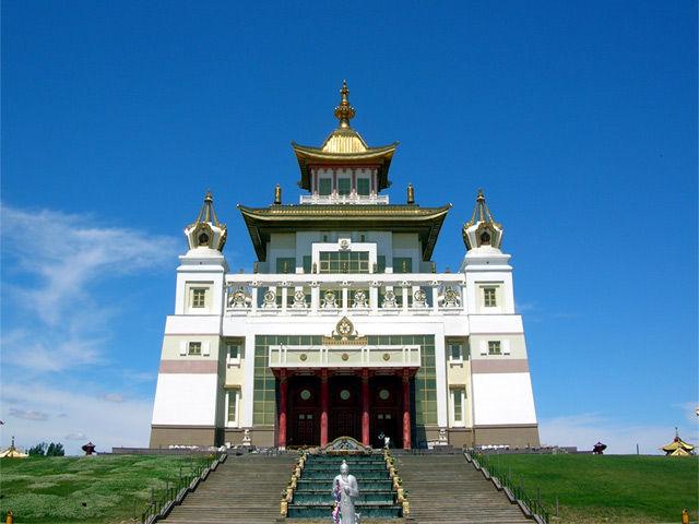 Буддийский хурул Золотая обитель Будды Шакьямуни Калмыкия